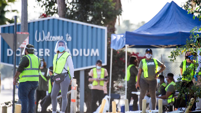 Protesters Shut Down Large-Scale Vaccine Site At Dodger Stadium