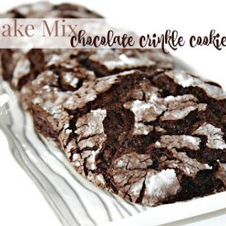 Chocolate Cake Mix Crinkle Cookies Recipe