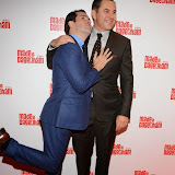 WWW.ENTSIMAGES.COM -    Jimmy Carr  and  David Walliams  arriving at     Made In Dagenham - press night at Adelphi Theatre London November 5th 2014Comedy musical based on the hit British film.                                                  Photo Mobis Photos/OIC 0203 174 1069