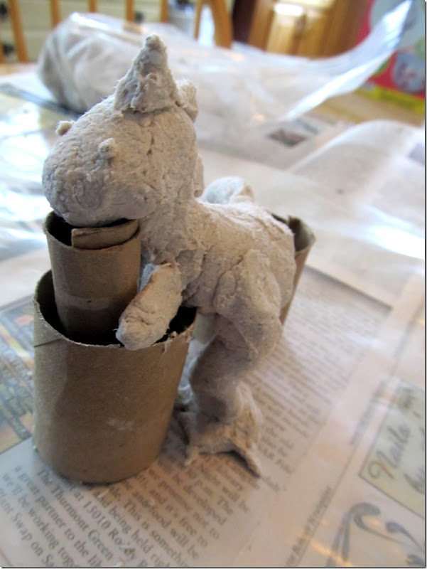 building dinos from celluclay 3