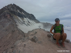 Photo: We arrived at the Diamond Peak summit block just before the clouds rolled in...