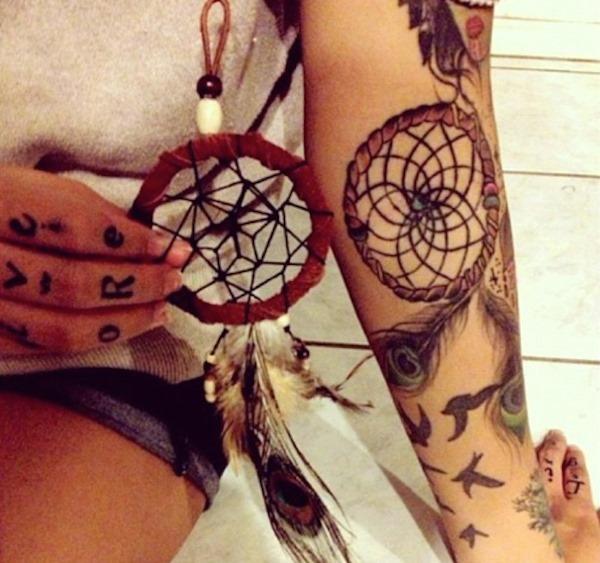 dreamcatcher_braço_de_tatuagem