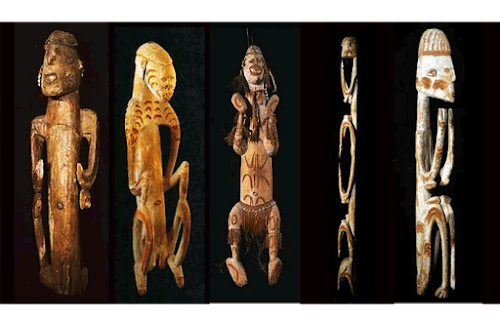 kerajinan suku Asmat