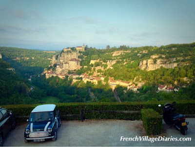 French Village Diaries Mini Cooper road trip France Rocamadour