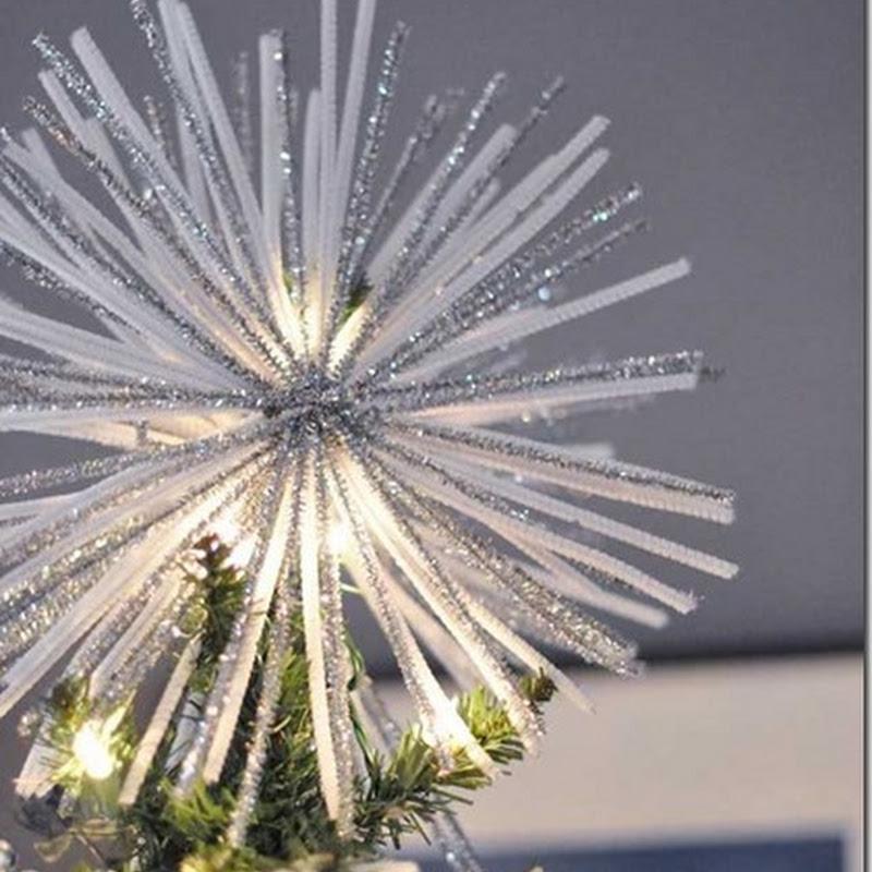 decoración Navideña, ideas para estrella del arbol de Navida