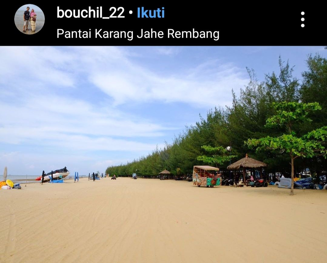 Pantai Karang Jahe Destinasi Wisata Pantai Paling Ramai Di Kabupaten Rembang Sumber78 Com