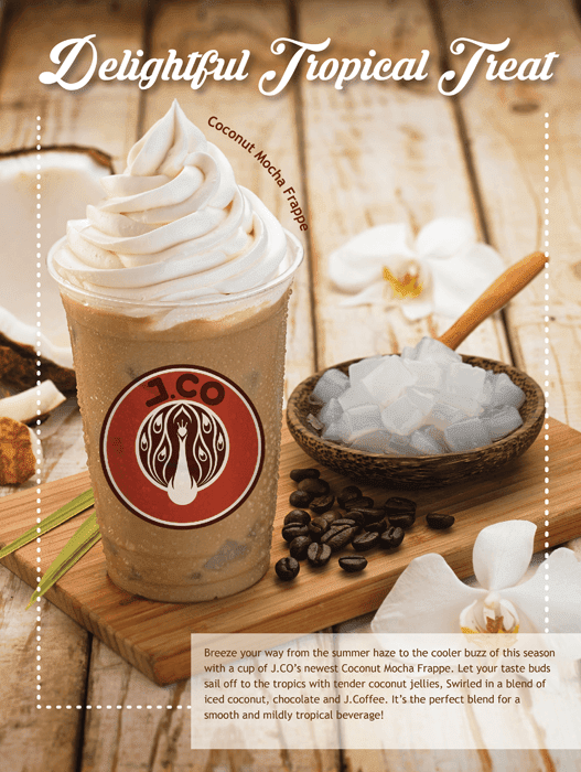 Coconut Mocha Frappe and Dazzling Queen from J. CO