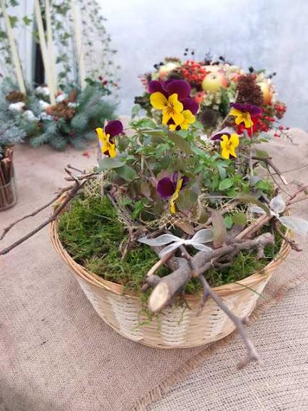 Composizioni floreali di natale natalizie fiori anche secchi foglie frutta autunnali un - Fiori da giardino autunnali ...
