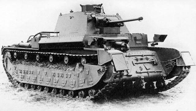 Medium Tank A7E3, который стал базой для создания нового пехотного танка