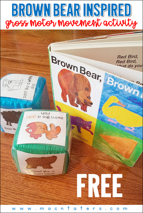 Brown Bear Brown Bear Gross Motor Activity for Toddlers and Preschoolers