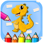 Cartoon dino Coloring Book Dinosaur Icon