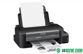 How to reset flashing lights for Epson M100 printer