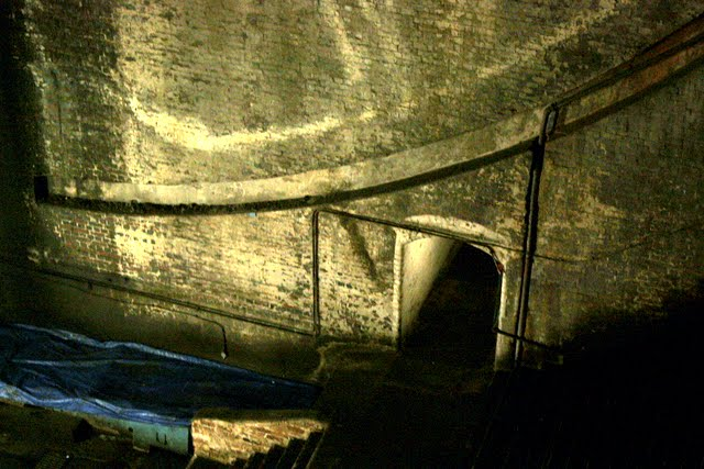 Bascule chamber of Tower Bridge in London