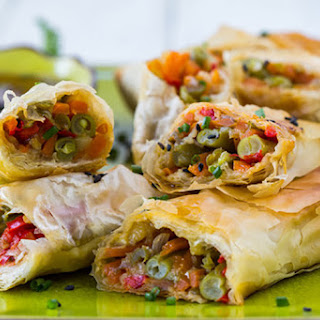 Baked Vegetable Spring Rolls