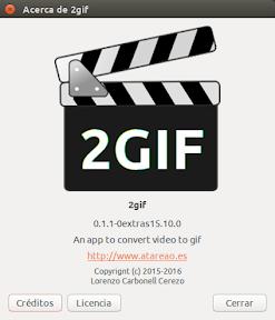 2Gif con soporte para Ubuntu Trusty Tahr - acerca de