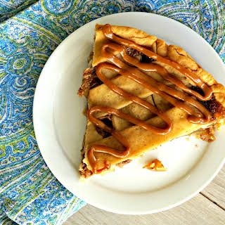 Smoked Bourbon and Salted Caramel Apple Pie.