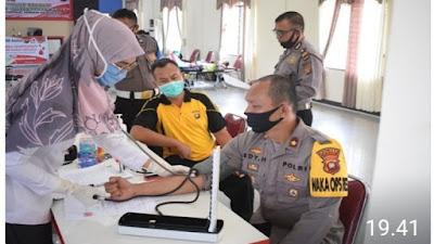 Bakti Sosial Donor Darah Polres Sekadau, Dalam Rangka Hari Bhayangkara ke 74
