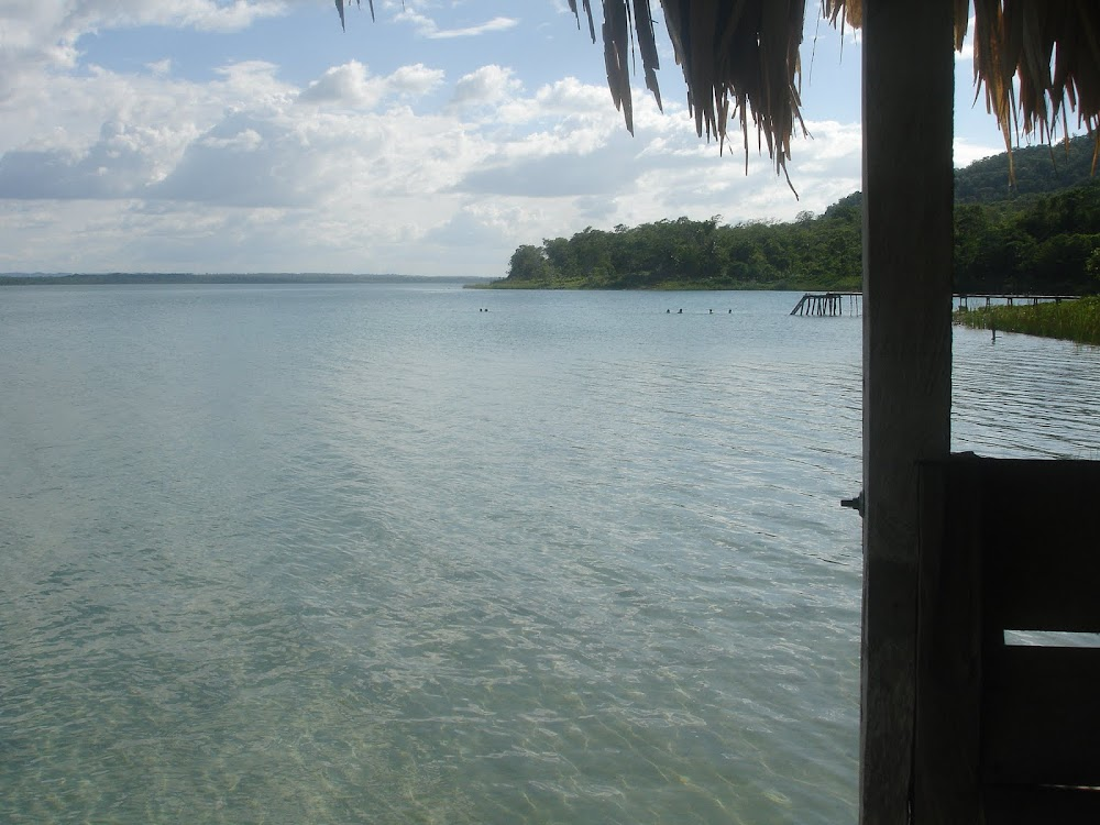 Lago Peten Itza, this was near the village of El Remate, the first place I stayed overnight in Guatemala.