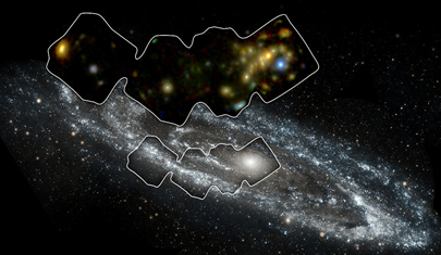Galáxia de Andrômeda registrada em raios X de alta energia