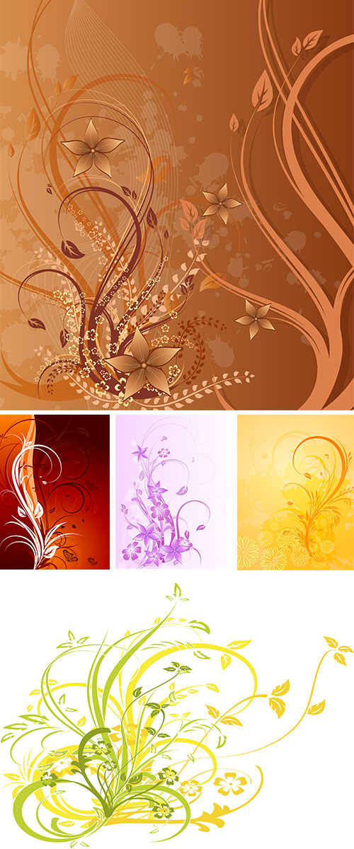 Stock: Floral background flowers blots