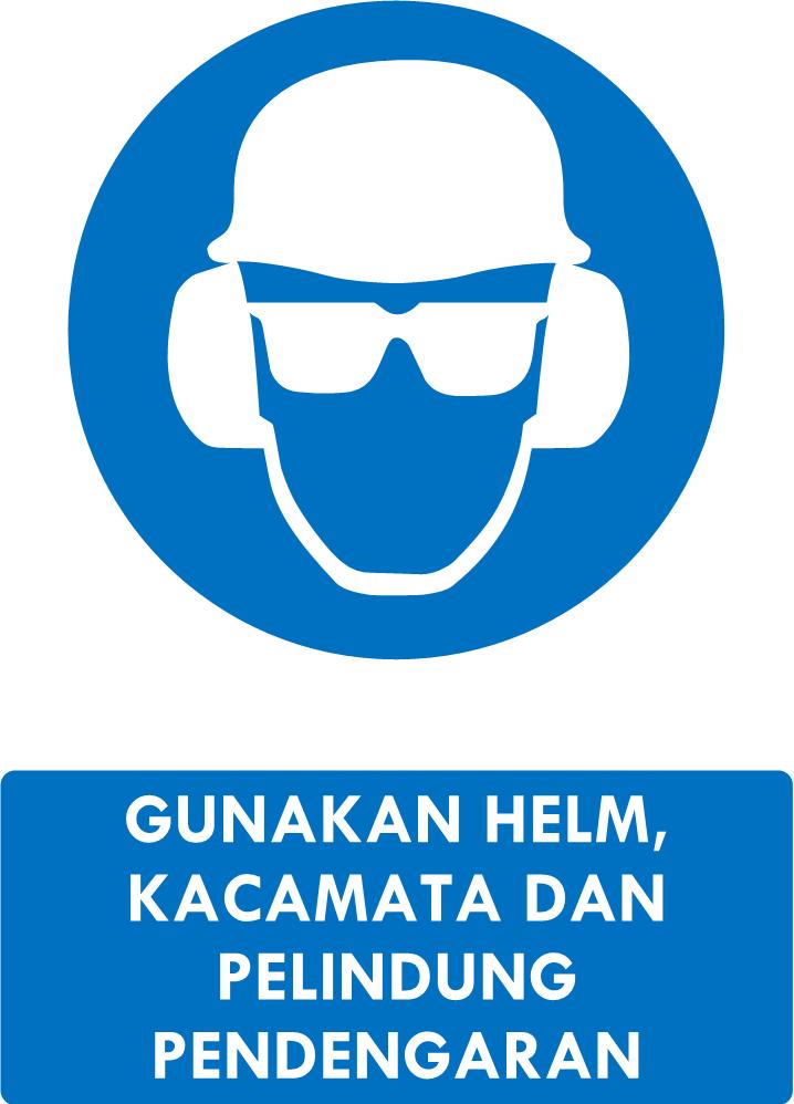 Rambu Helm, Kacamata, Pelindung Pendengaran
