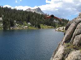 Cliff diving at Booth Lake.
