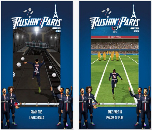 パリ・サンジェルマンiPhone公式ゲーム2