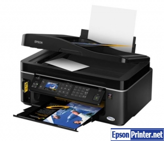 Reset Epson TX600FW printer by application