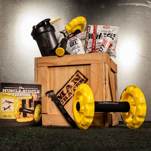 K'Mich Weddings - wedding planning- muscle hustle fitness crate - Muscle Hustle Fitness Crate Man crates