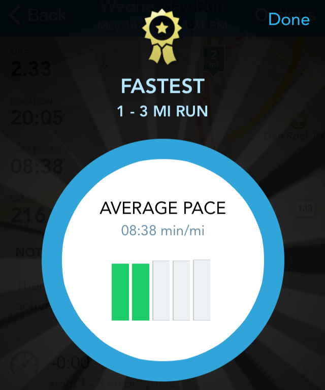 RunKeeper fastest run