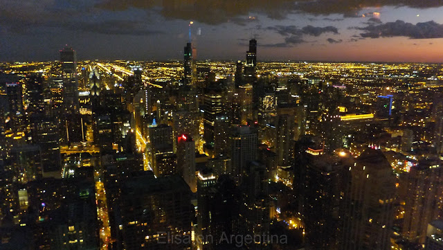 Skyline nocturna, Chicago, Signature Room, John Hancock Center, Elisa N, Blog de Viajes, Lifestyle, Travel
