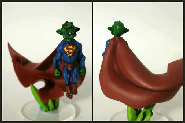 Goblins superman pintado por Xela