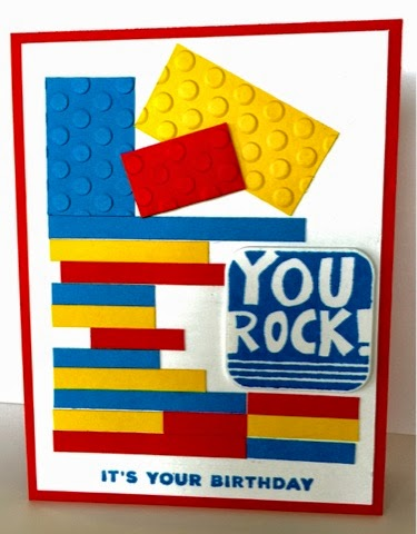 Create Everyday Lego Birthday Card I Cased This From Linda Aarhus