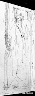 Mom in the Morning, diary sketch 800x2164