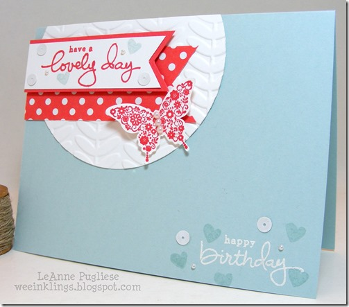 LeAnne Pugliese WeeInklings TSOT242 Lovely Birthday Stampin Up Endless Wishes
