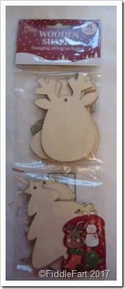 Poundland Wooden Christmas Shapes