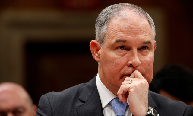 Trump's Environmental Protection Agency chief, Scott Pruitt. At least five EPA officials were reassigned or demoted after raising concerns about Scott Pruitt's spending. Photo: Aaron Bernstein / Reuters