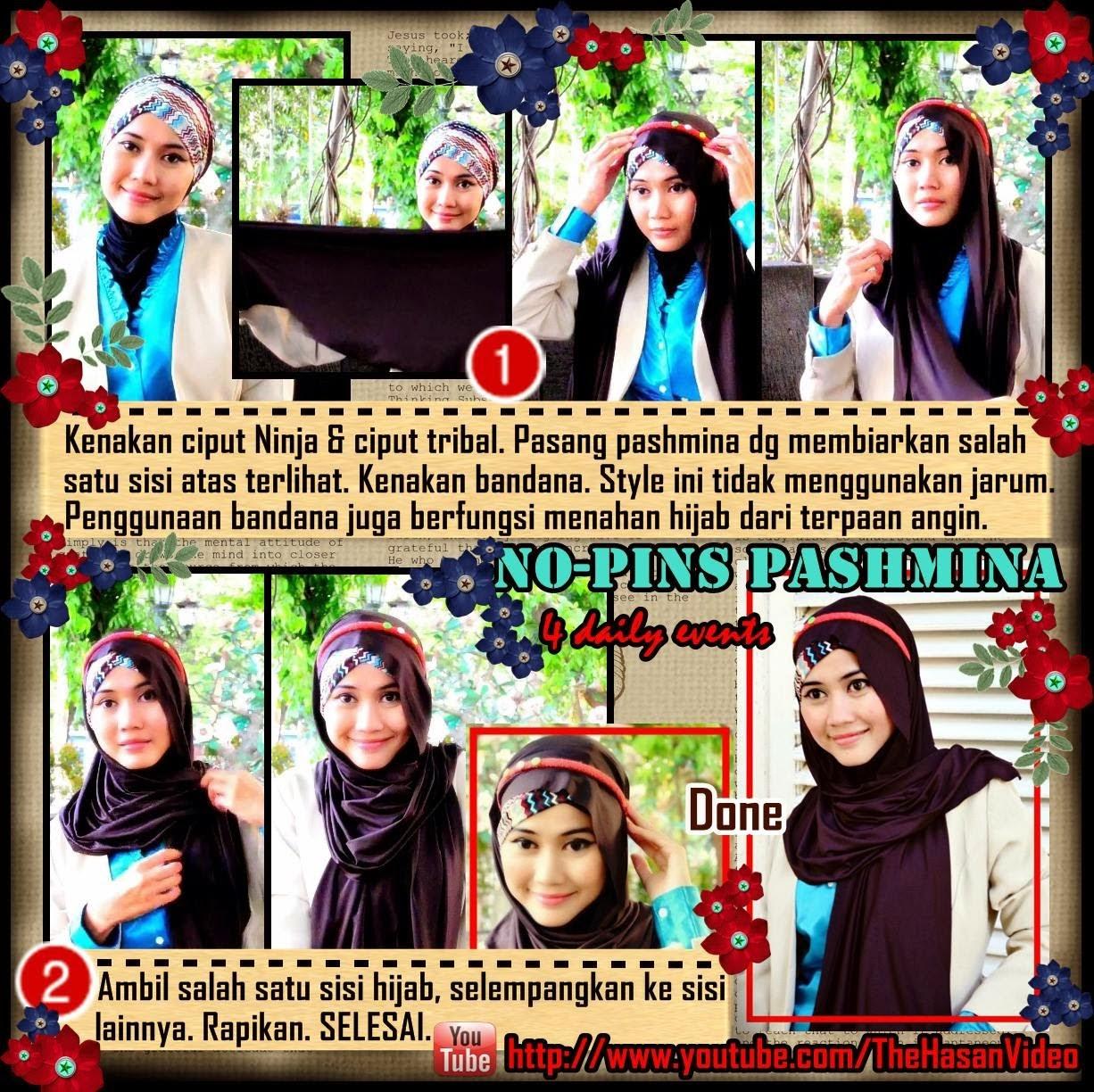Video CARA MEMAKAI JILBAB SEGI EMPAT FATIN 696 Cara Hijab