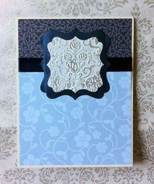 fuaux tin greeting card