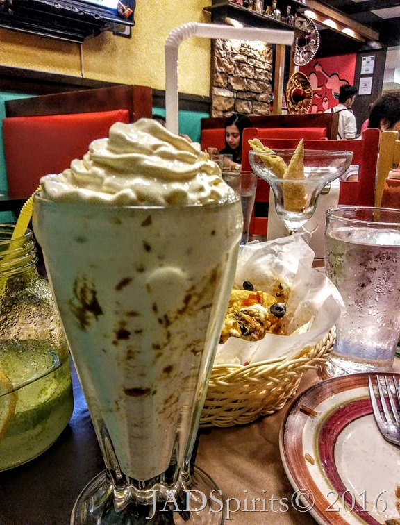 For dessert, Triple Thick Milk Shake of Crunchy Cookie Butter