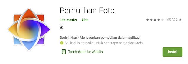 Aplikasi Mengembalikan Foto