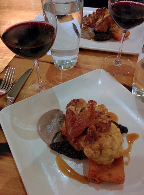 Braised Cauliflower Steak with Orofino 2011 Collector's Club Merlot