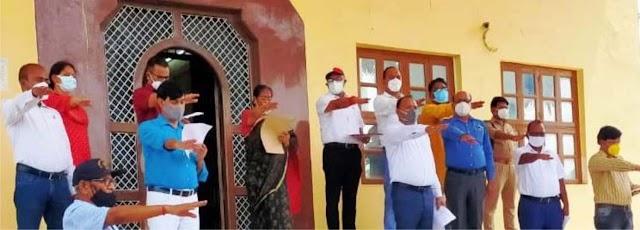 कुलपति प्रो. मौर्य ने पूविविकर्मियों को दिलायी शपथ