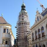 2011.08.09 Tűztorony állványozás, Kulcspont építés, Várfalsétány kialakítás