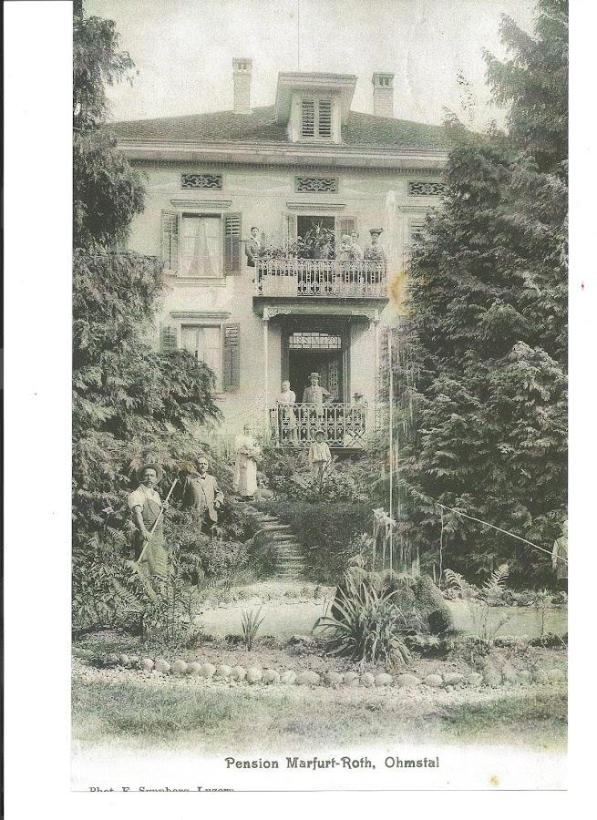 Erst am 1. Mai 1907 wurde das Haus als  Kurhaus in Betrieb genommen. Aufnahme - Seitenpartie
