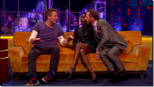 The Jonathan Ross show Coldplay Simon Pegg17