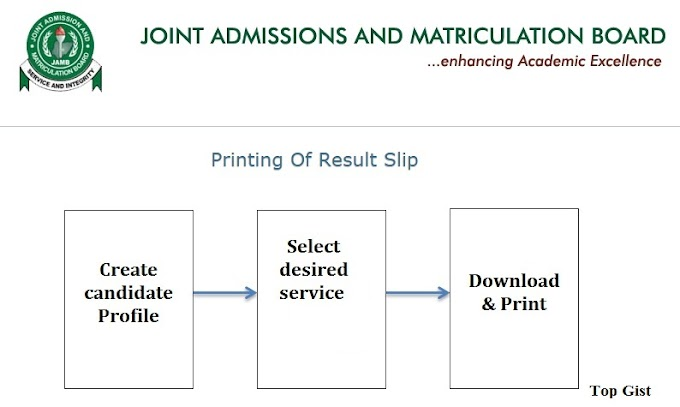 INSTRUCTIONS: HOW TO PRINT JAMB 2019 ORIGINAL RESULT SLIP