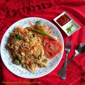 Thai Fried Rice ~ Chicken and Vegetables