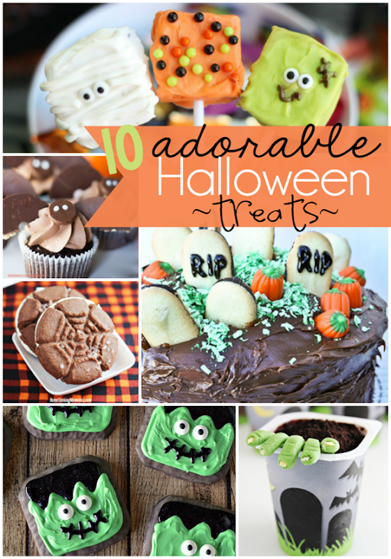 10 Adorable Halloween Treats at GingerSnapCrafts.com #halloween #treats