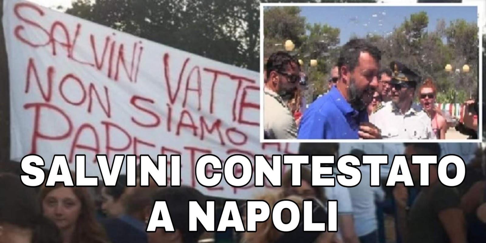 """Ultim'ora: Salvini contestato a Napoli, Donna dal balcone: """"non ti vogliamo""""!"""